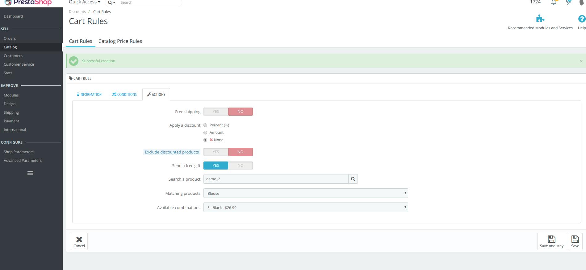 Cómo agregar cupones y códigos de descuento a Prestashop 1.7