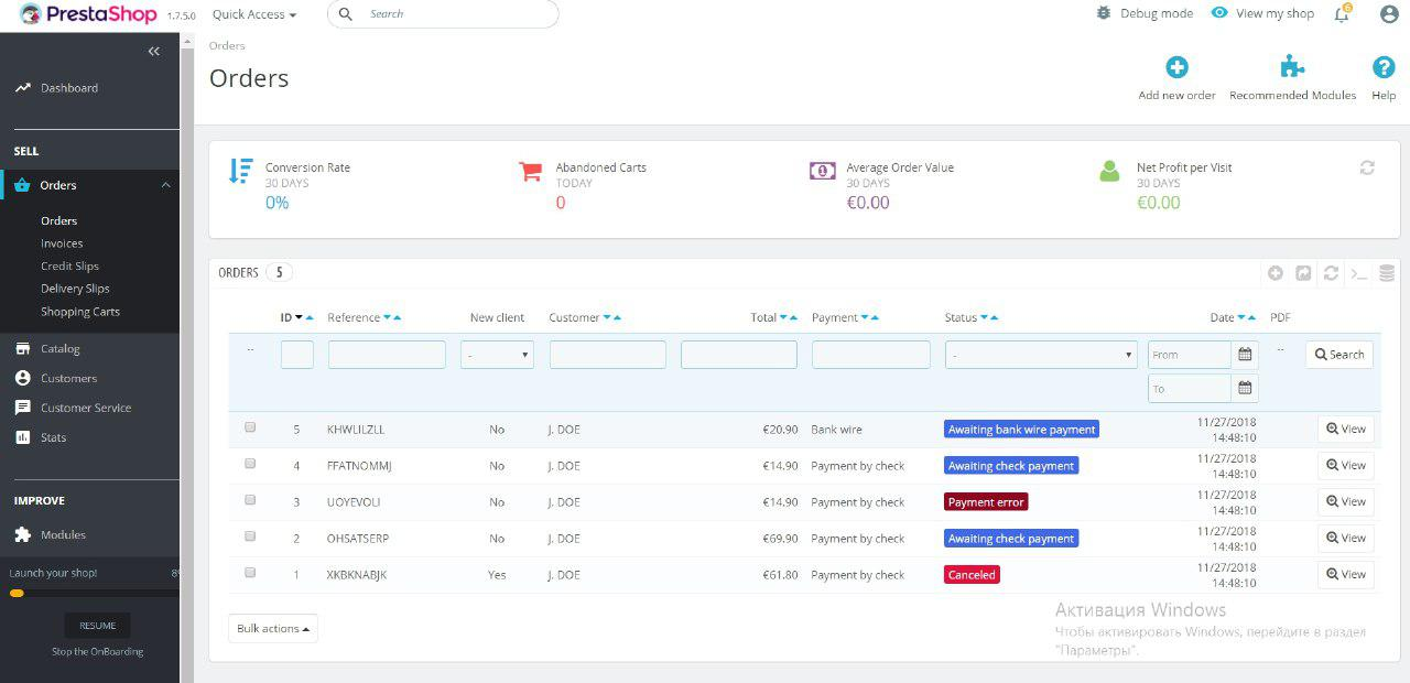orders dashboard in magento 1.7.5