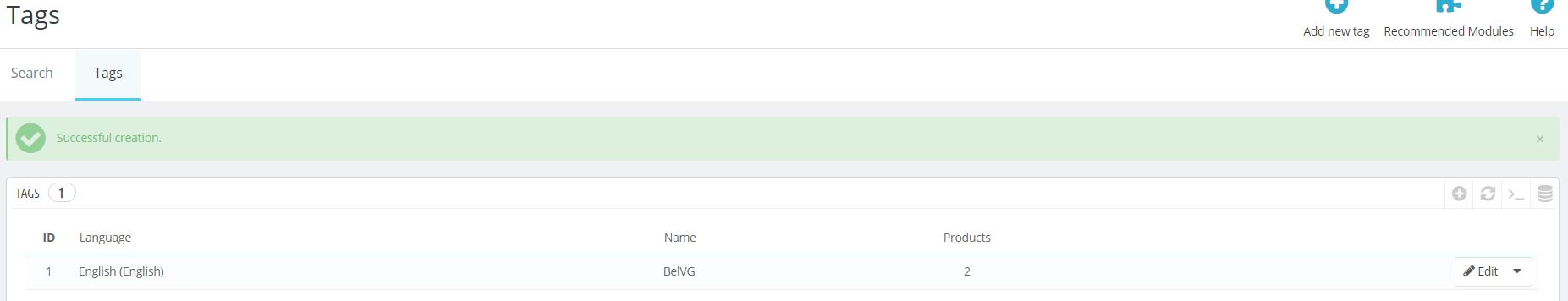 PrestaShop 1.7.5 tags