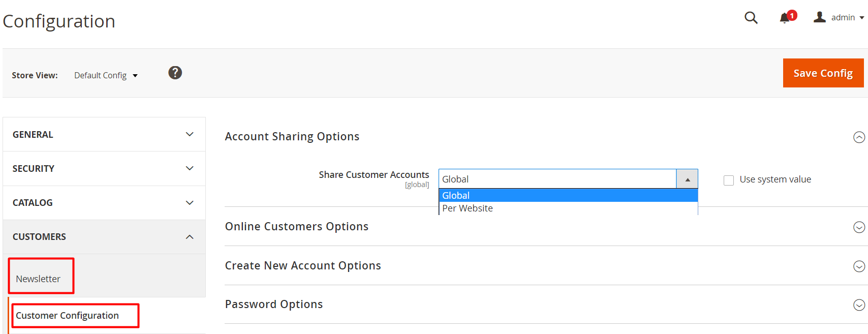 account sharing options