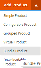 bundle product menu magento 2