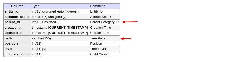 category entity Magento 2