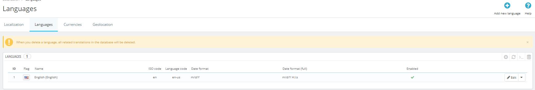 languages prestashop 1.7.5.0