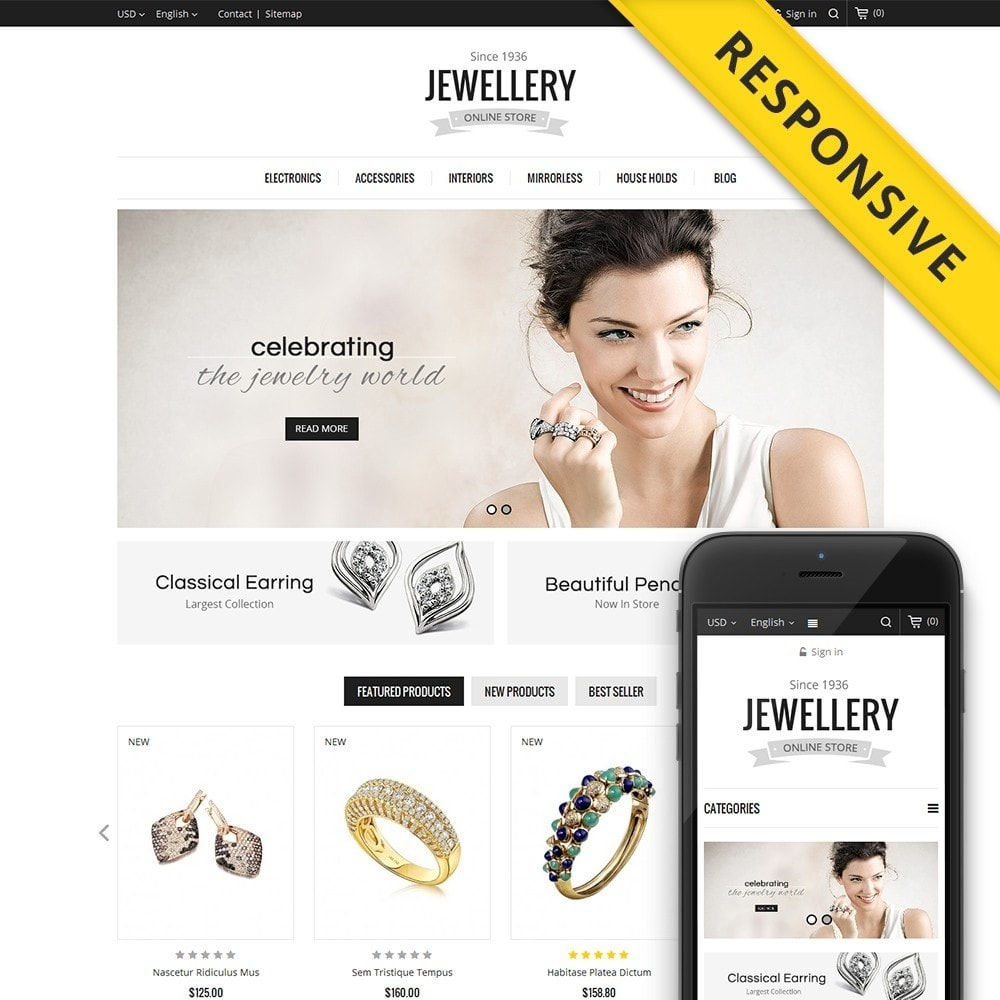 Jewellery Store Template