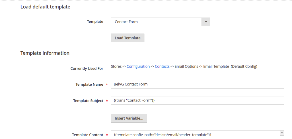 How to add contact form to magento 2