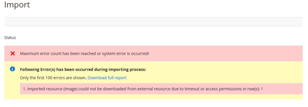Images loading errors