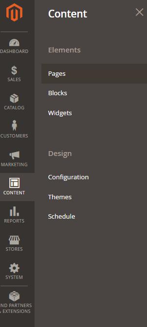 content element pages