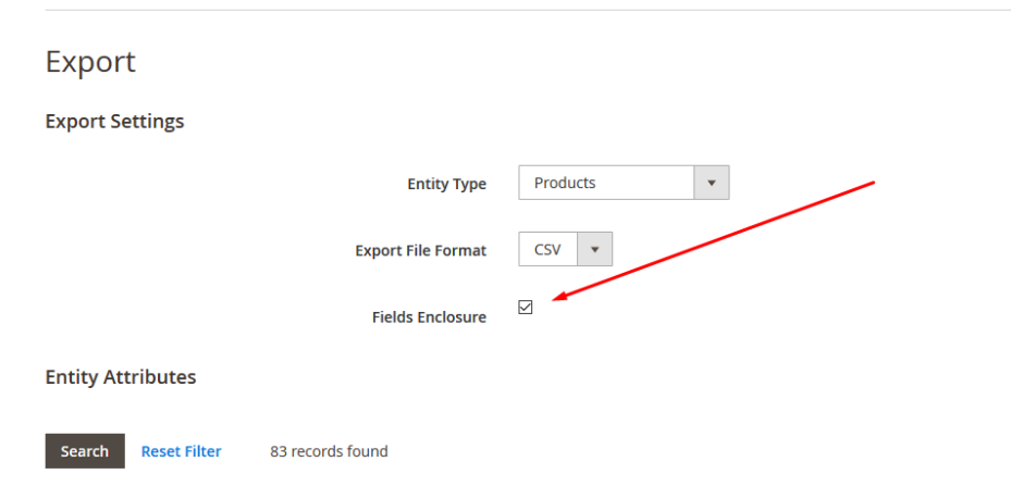 how to export product data magento