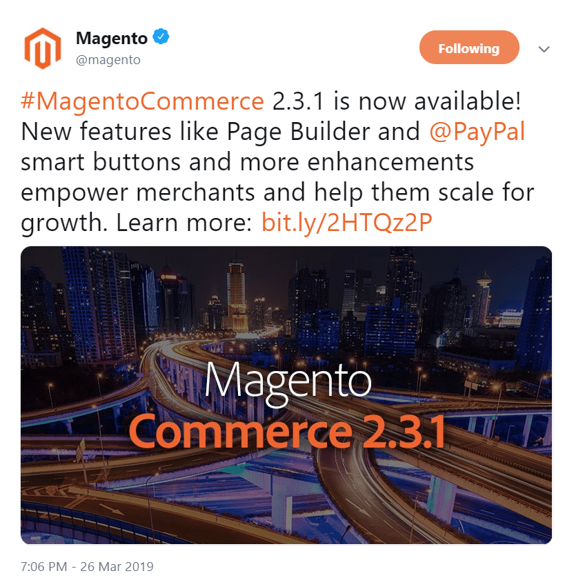 magento page builder announcement