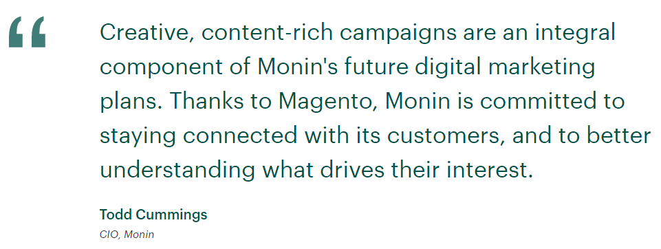 monin customer reviews