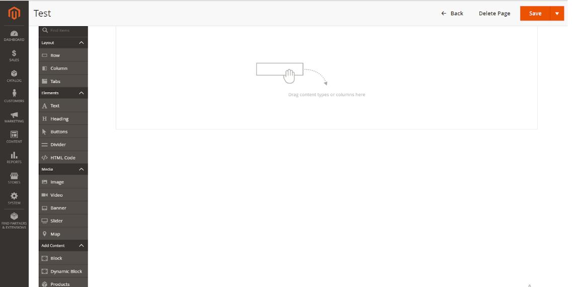 pagebuilder layout Magento