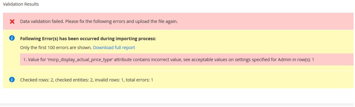 validation errors magento