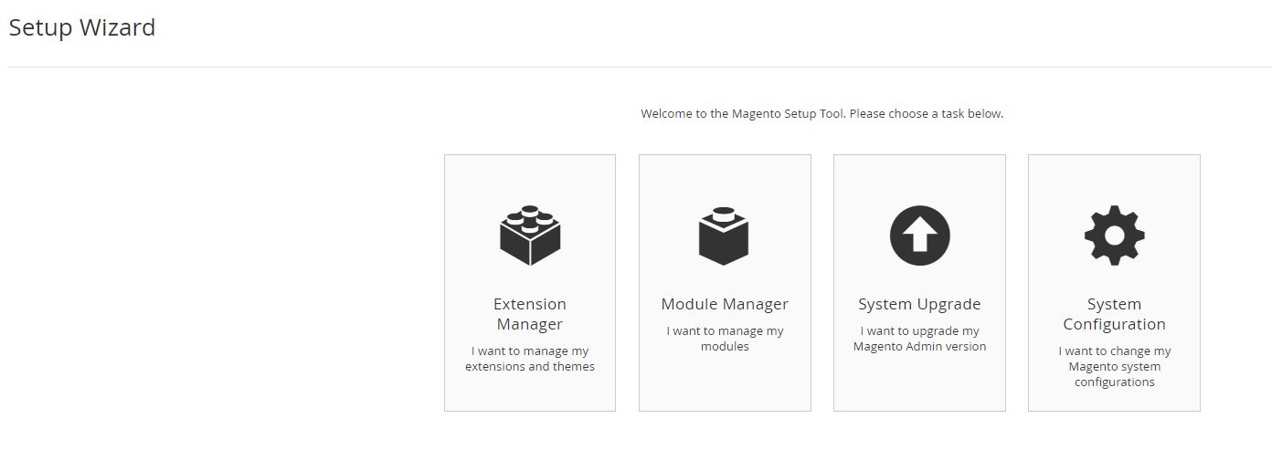 extenstion manager