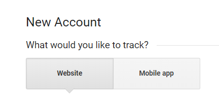 new account google analytics