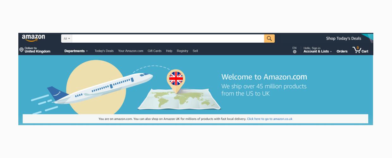 amazon main page