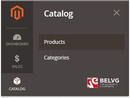 catalog category magento