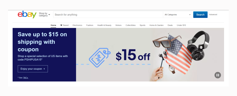ebay main page