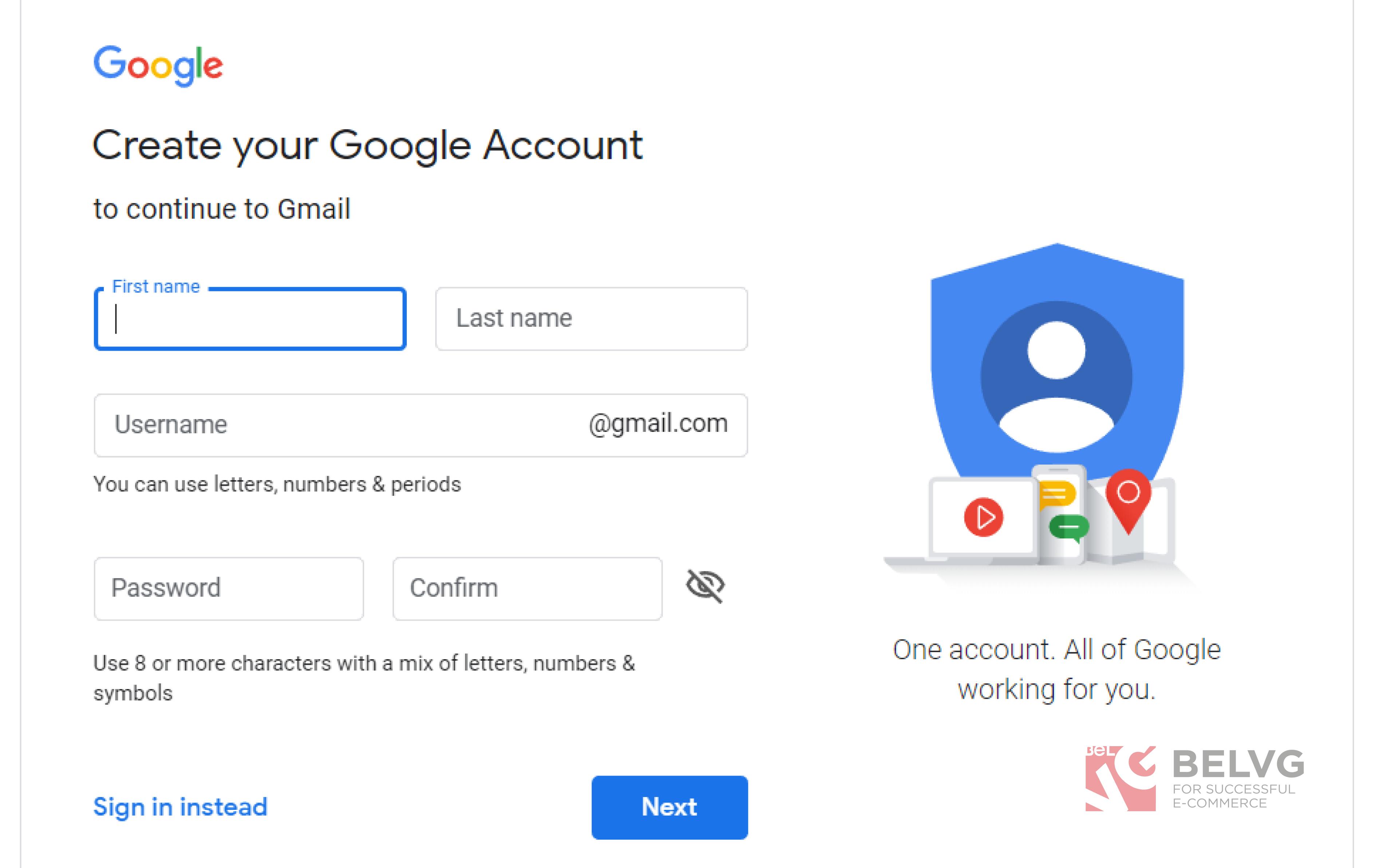 gmail new account