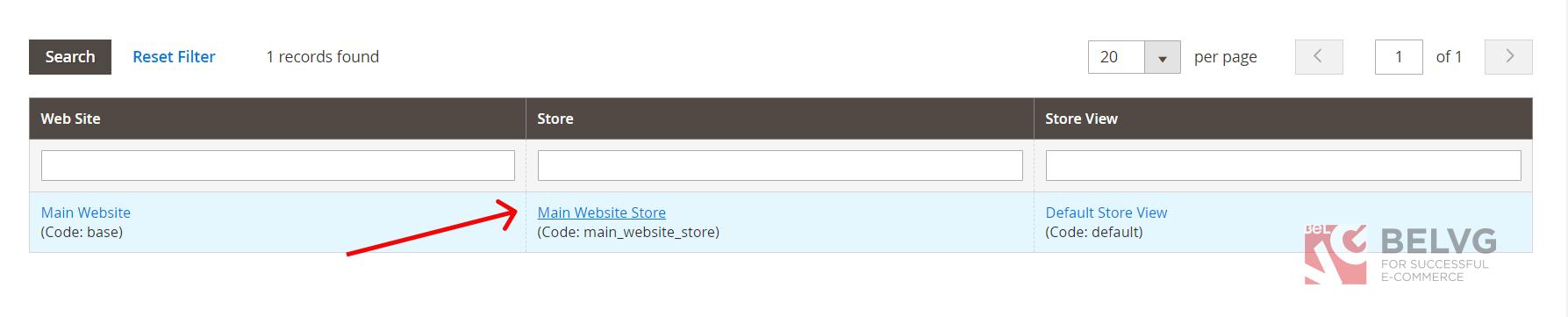main website store