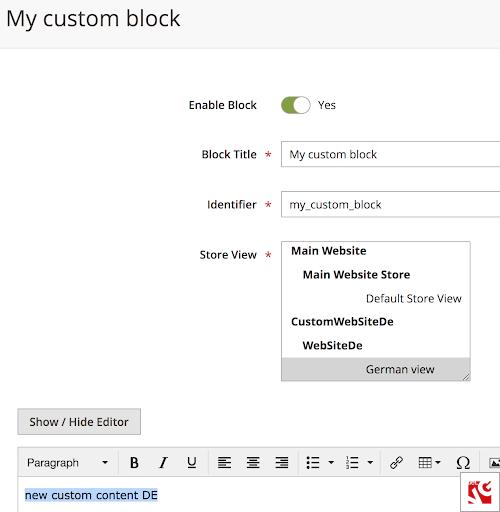 modified custom language block
