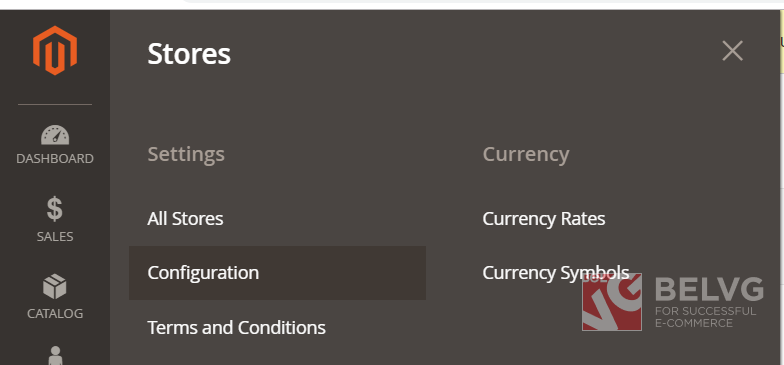 stores settings configuration
