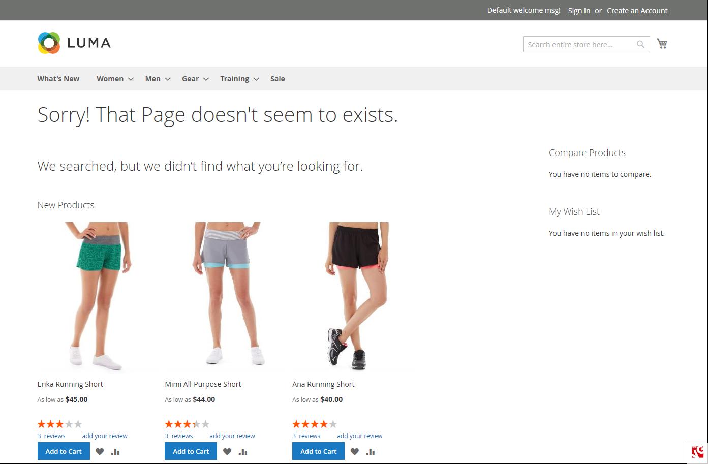 magento 404 widget example