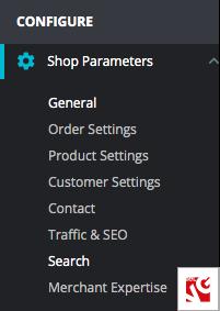 configuración de la tienda prestashop