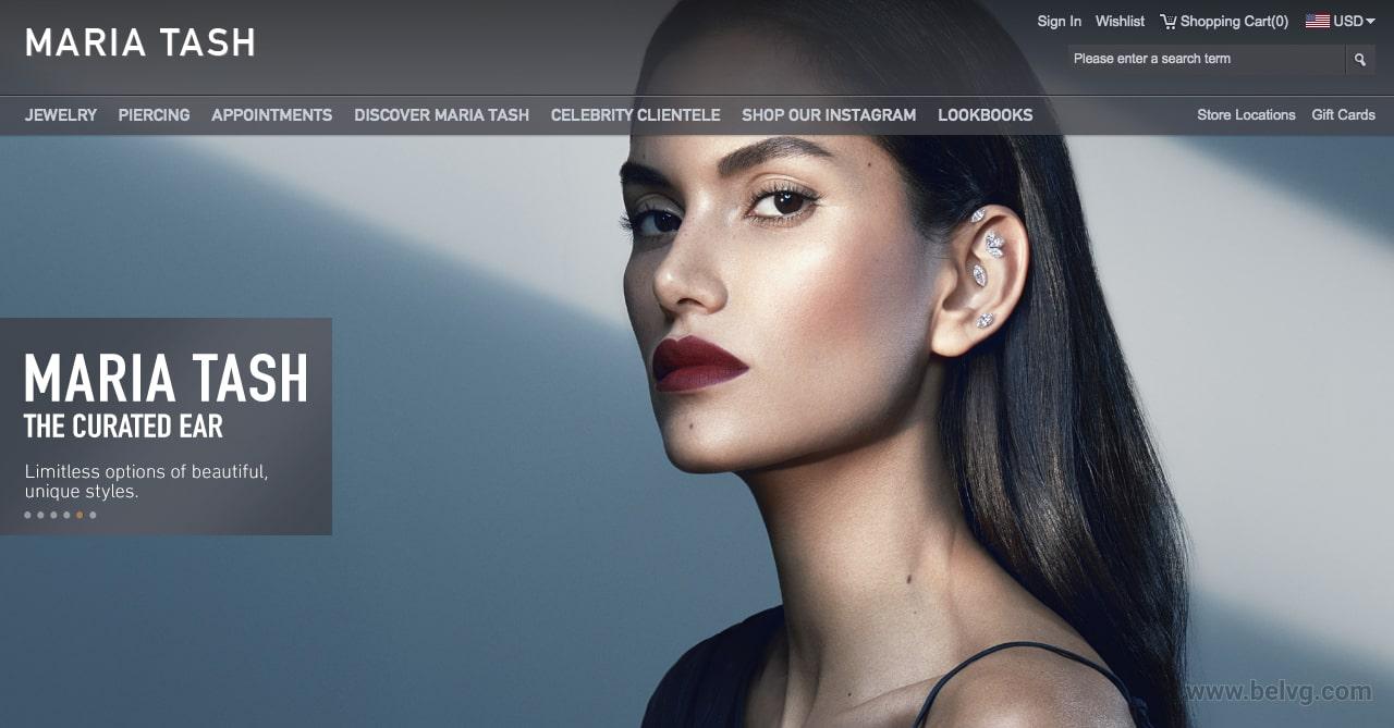 Magento website homepage example