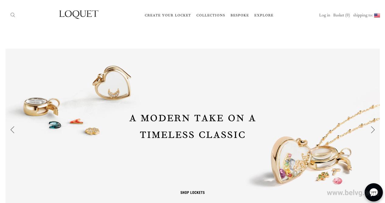 Magento-based website homepage