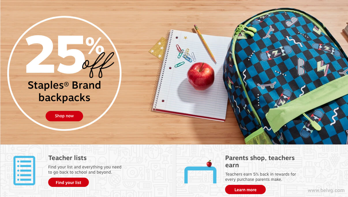 Staples Back-to-School BelVG