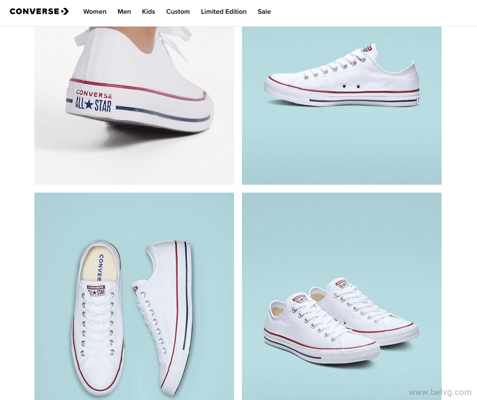 Converse store Ecommerce vs Brick and Mortar
