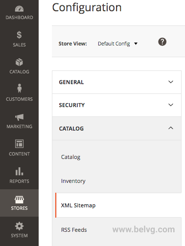 catalog xml sitemap
