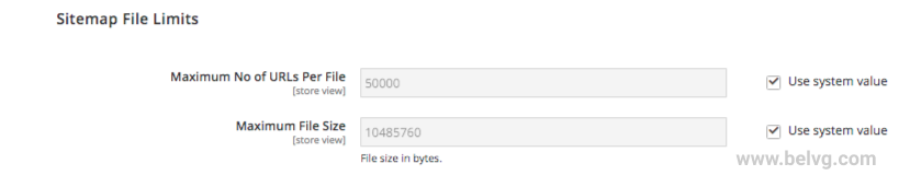 sitemap file limits