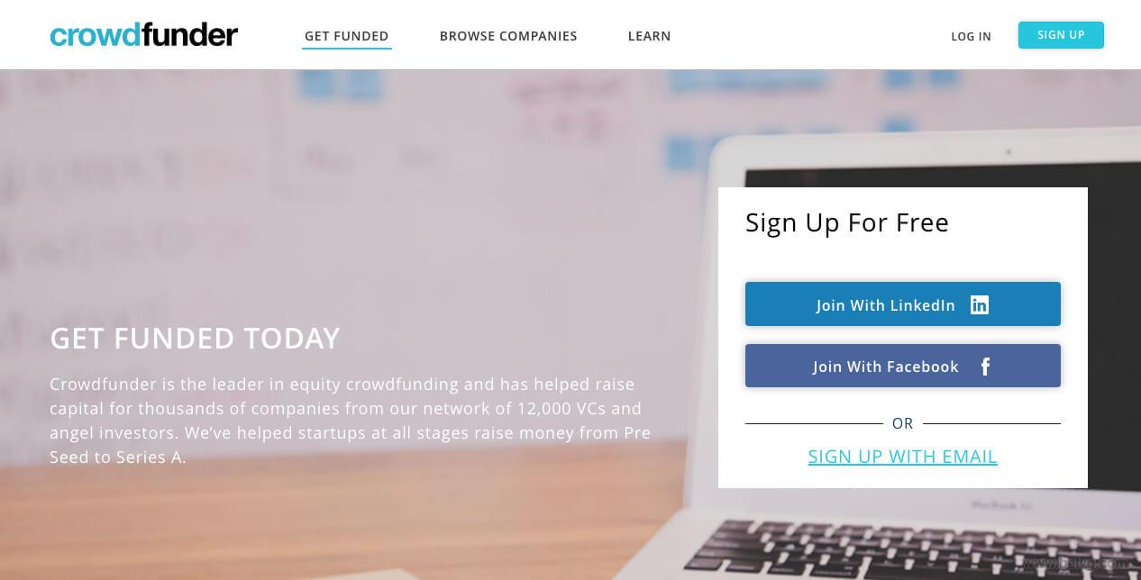 Crowdfunder - fundraising website