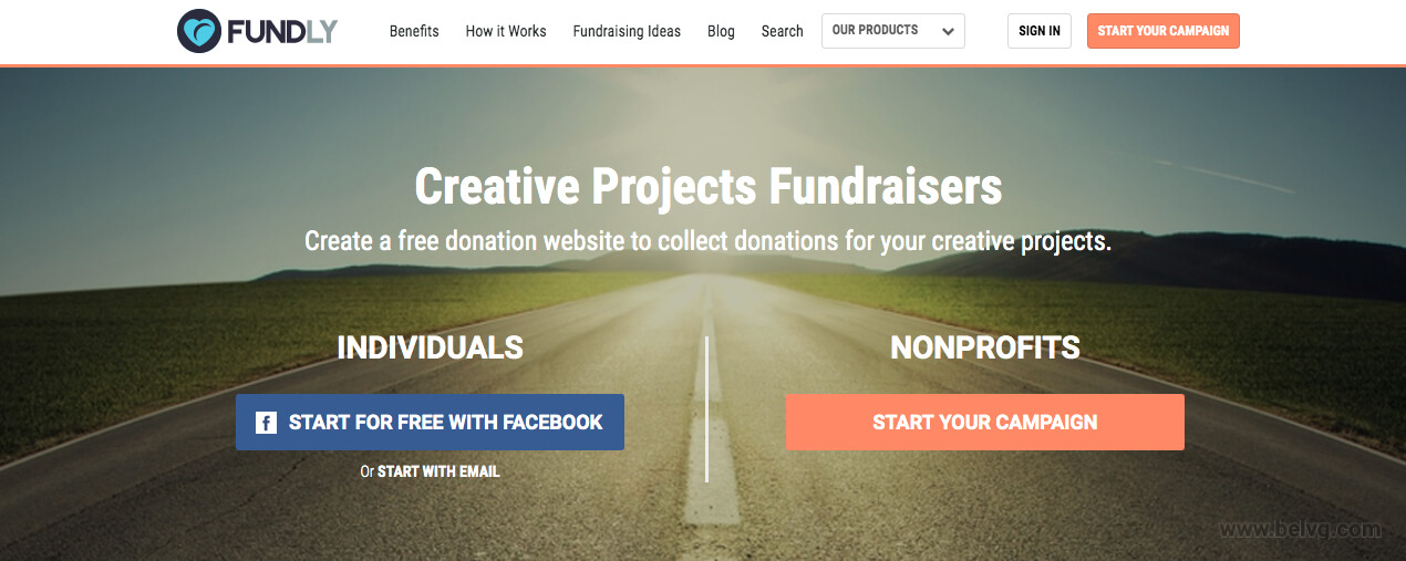 Fundly - fundraising website
