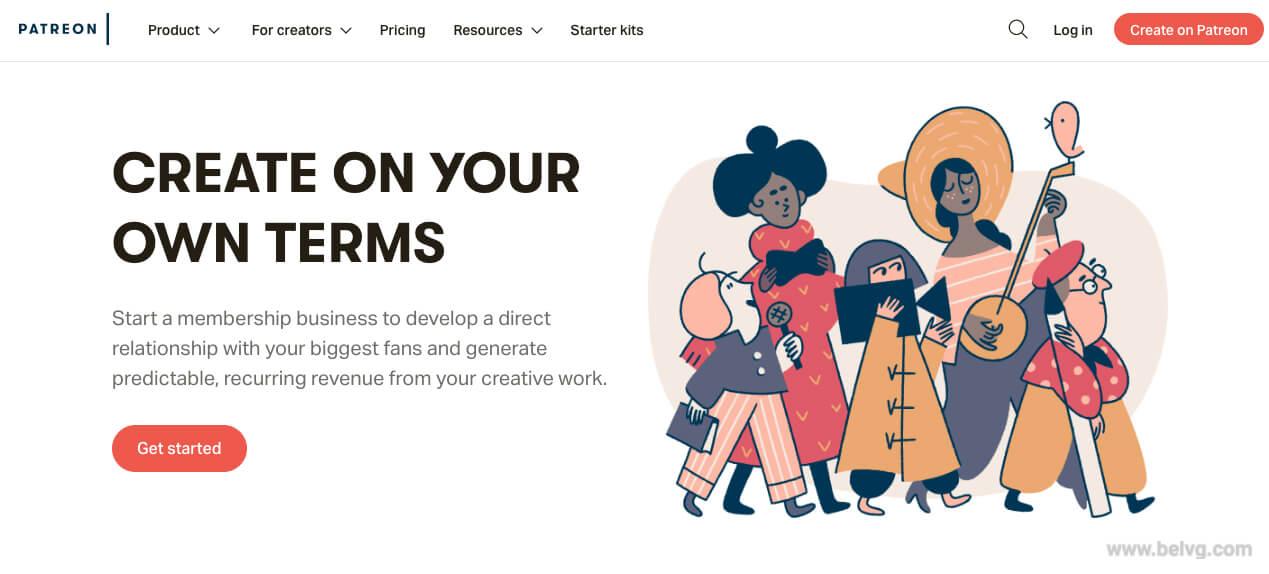 Patreon - fundraising website