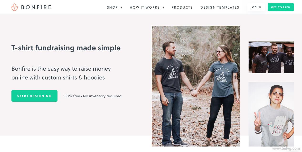 fundraising website Bonfire