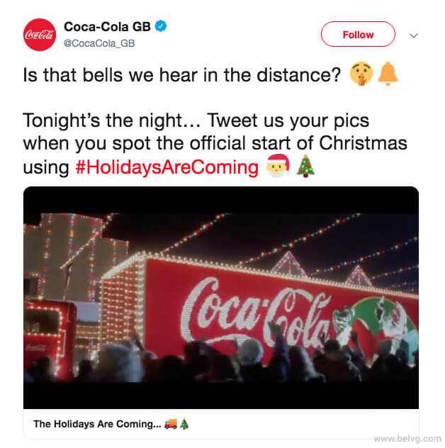 Coca Cola - christmas marketing campaign
