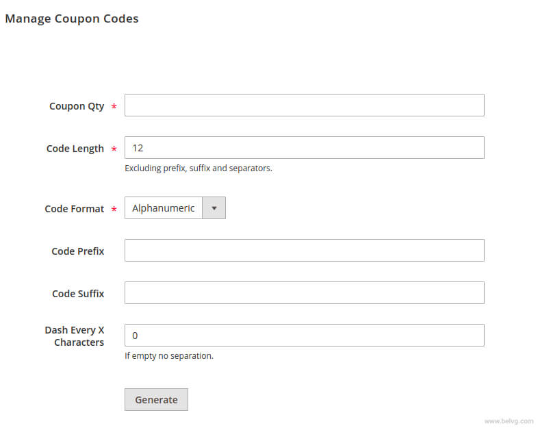 how to set up promo codes in magento