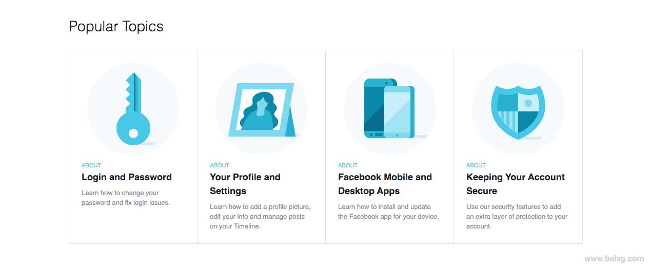 Facebook FAQ page