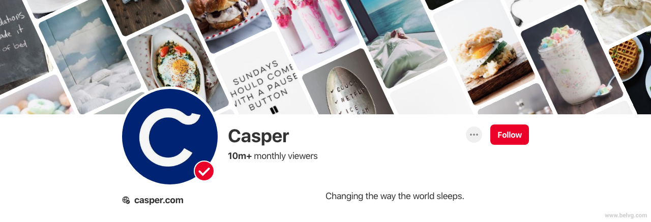Pinterest Business Account - Casper