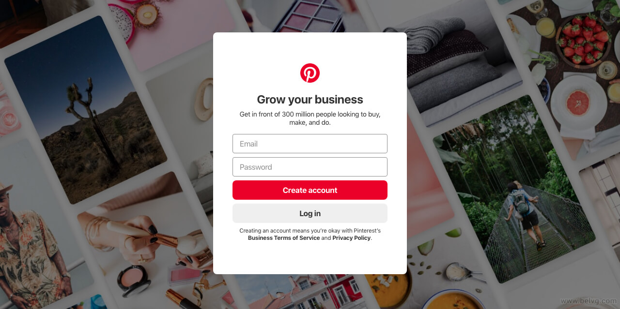 Pinterest Business Account Creation