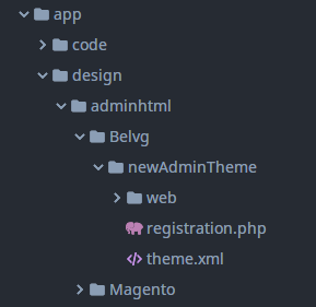 how to create admin theme in magento