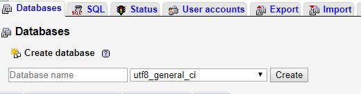 Create a database in PrestaShop