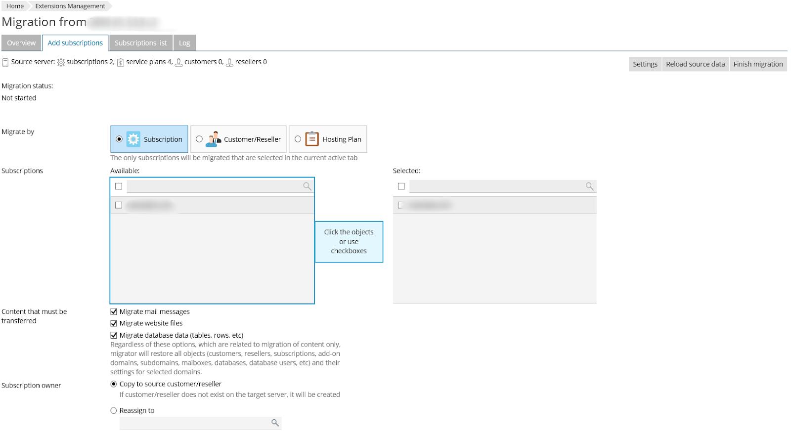 How to migrate PrestaShop to a new server via Plesk