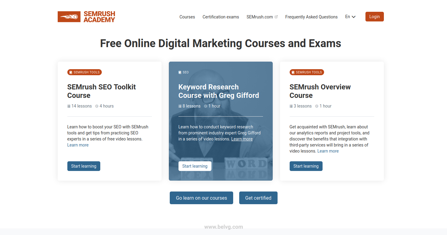 SEMRUSH free marketing tools