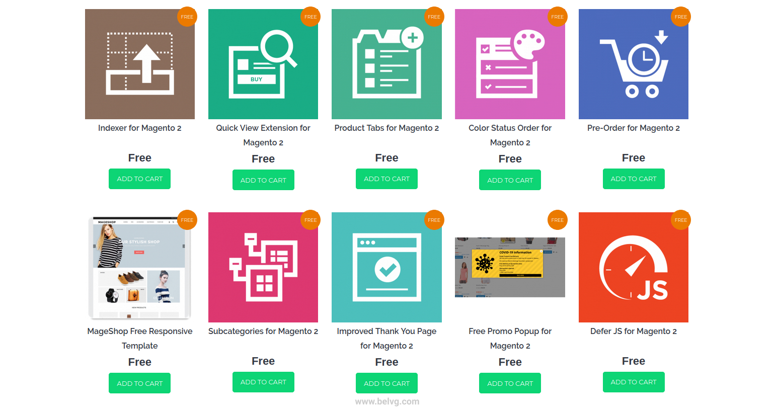 free Magento and PrestaShop modules and themes