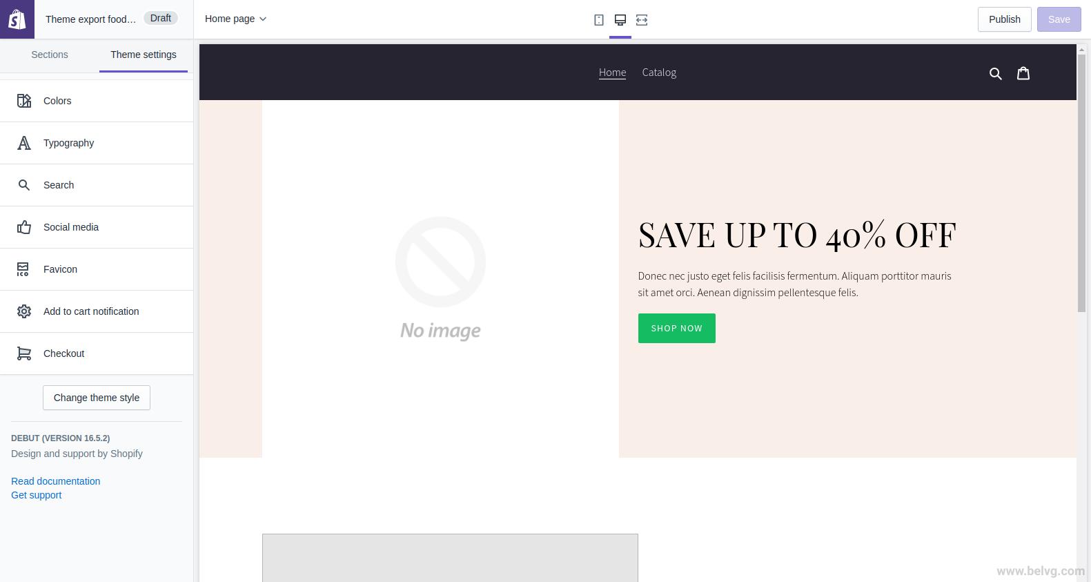 Personalización del tema de Shopify
