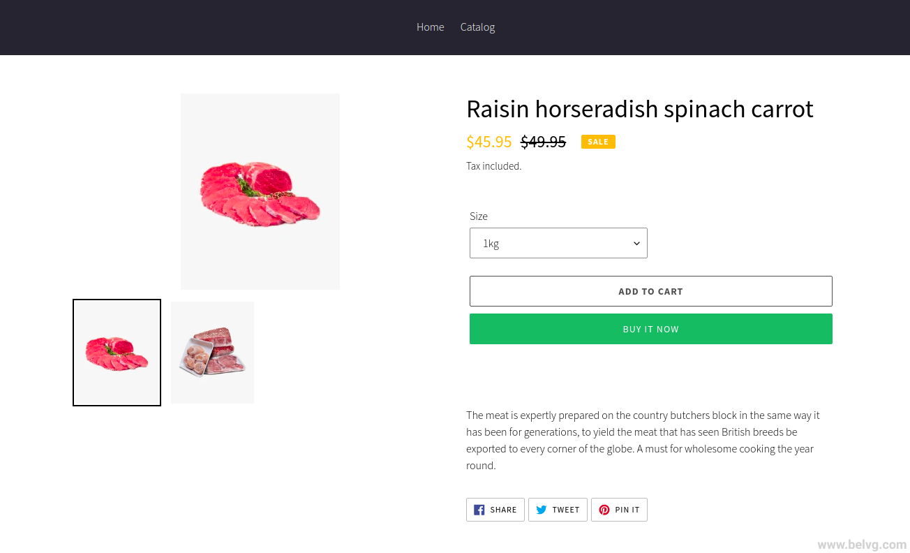 create product in shopify