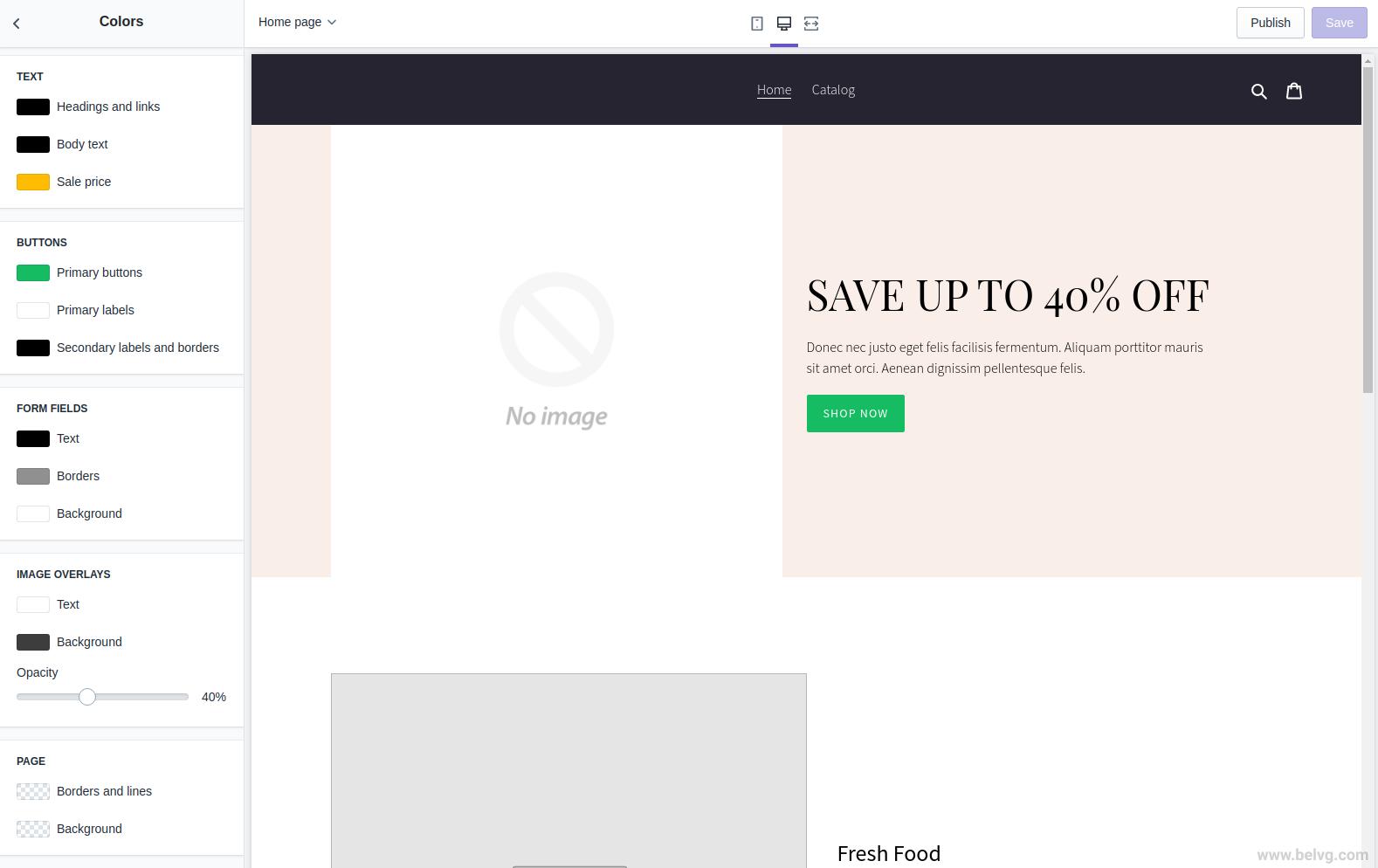 personalizar el tema de Shopify